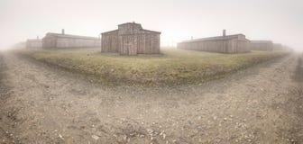 Camp de concentration nazi Auschwitz I photographie stock libre de droits
