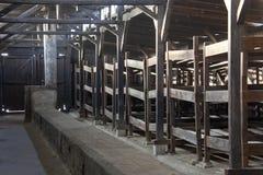 Camp de concentration nazi de Birkenau - Pologne Images stock