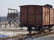 Camp de concentration nazi de Birkenau - Pologne Photo libre de droits