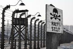Camp de concentration nazi de Birkenau - Pologne Image stock