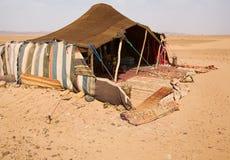Camp de désert Photos libres de droits
