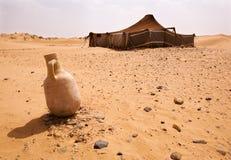 Camp de désert Images libres de droits