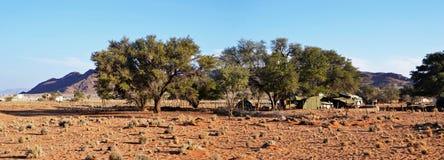 Camp de désert dans Namib Images stock