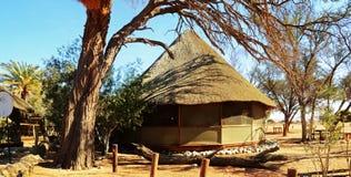 Camp de désert dans Namib Photographie stock libre de droits
