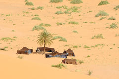 Camp de désert Photo libre de droits