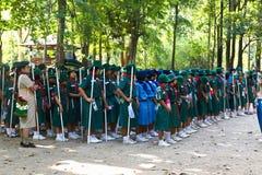 Camp de filles scout Photographie stock