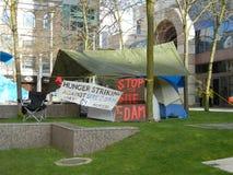 Camp de grève de la faim images stock