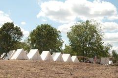 Camp de guerre civile Photos libres de droits