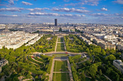 Camp de mart. Field of Mars from the Eiffel Tower Stock Images