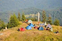 Camp de montagne Photo stock