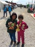 Camp de réfugié Images libres de droits