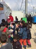 Camp de réfugié Photo stock