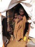Camp de réfugié de faim de la Somalie photos stock