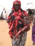 Camp de réfugié de faim de la Somalie Image libre de droits