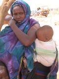 Camp de réfugié de faim de la Somalie Image stock