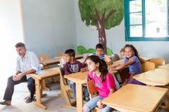 Camp de réfugié de Lagadikia Image libre de droits