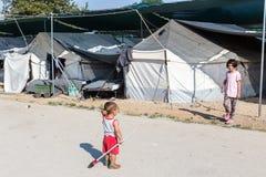 Camp de réfugié de Lagadikia, Grèce Photos libres de droits