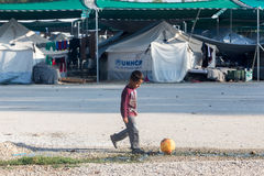 Camp de réfugié de Lagadikia, Grèce Photo stock