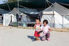 Camp de réfugié de Lagadikia, Grèce Photos stock