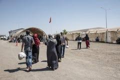 Camp de réfugié pour les personnes syriennes en Turquie 7 septembre 2017 Suruc, Turquie Photographie stock libre de droits