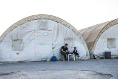 Camp de réfugié pour les personnes syriennes en Turquie 7 septembre 2017 Suruc, Turquie Photos libres de droits