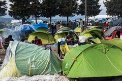 Camp de réfugié en Grèce Photo stock