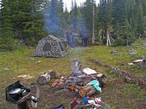Camp de région sauvage Image stock