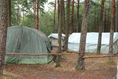 Camp de scout de garçon Images libres de droits