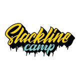 Camp de Slackline illustration de vecteur