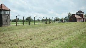 Camp de Tower Auschwitz-Birkenau Concentration de garde, mémorial de guerre cin?matographique clips vidéos