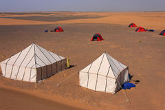 Camp in desert Royalty Free Stock Photo