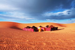 Camp in desert Stock Photography