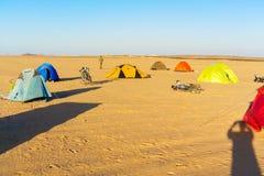 Camp in the desert in Egypt Stock Image