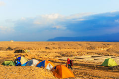 Camp in the desert in Egypt Royalty Free Stock Photography