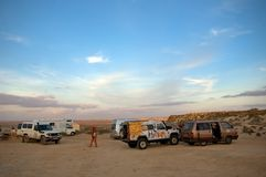 Camp in the desert, Western Sahara Stock Image