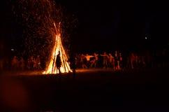 Camp du feu Images libres de droits