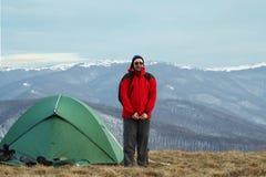Camp en montagne Photo libre de droits