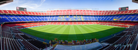 Camp FC Barcelone de Nou Photographie stock