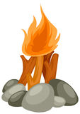 Camp fire. Illustration of isolated camp fire on white background vector illustration