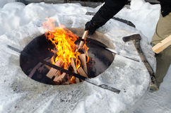 Camp fire Stock Photography