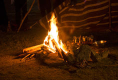 A camp fire Stock Photos