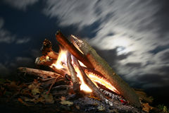 Camp fire Royalty Free Stock Photography