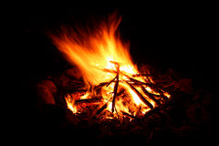 Camp Fire Background Stock Photography