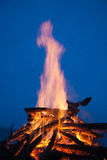 Camp fire. Big winter camp fire at night Royalty Free Stock Photo