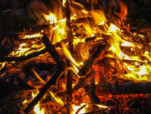 Camp fire. Royalty Free Stock Photo