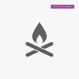 Camp fire icon simple illustration Stock Image