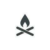 Camp fire icon simple illustration Stock Photo