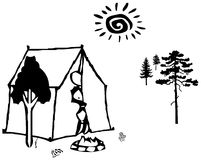 Camp in the forest Royalty Free Stock Images
