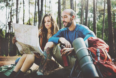 Camp Forest Adventure Travel Remote Relax Concept Royalty Free Stock Photography