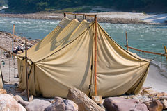 Camp at Ganges river Royalty Free Stock Image
